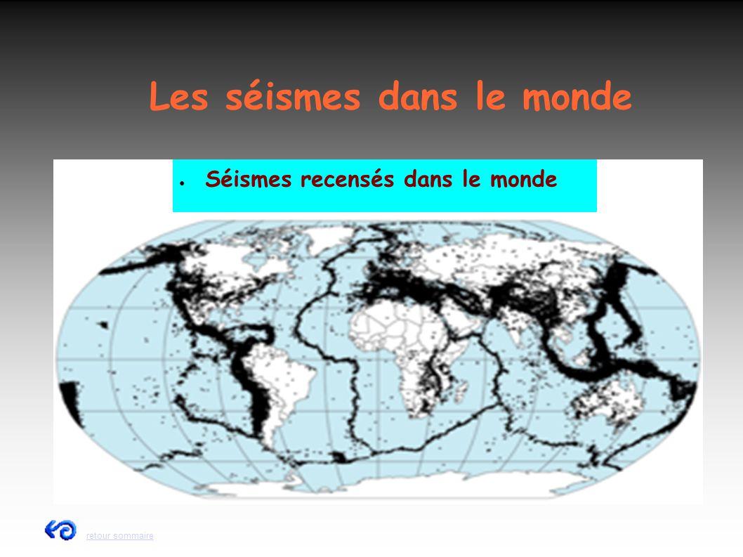 Les séismes dans le monde