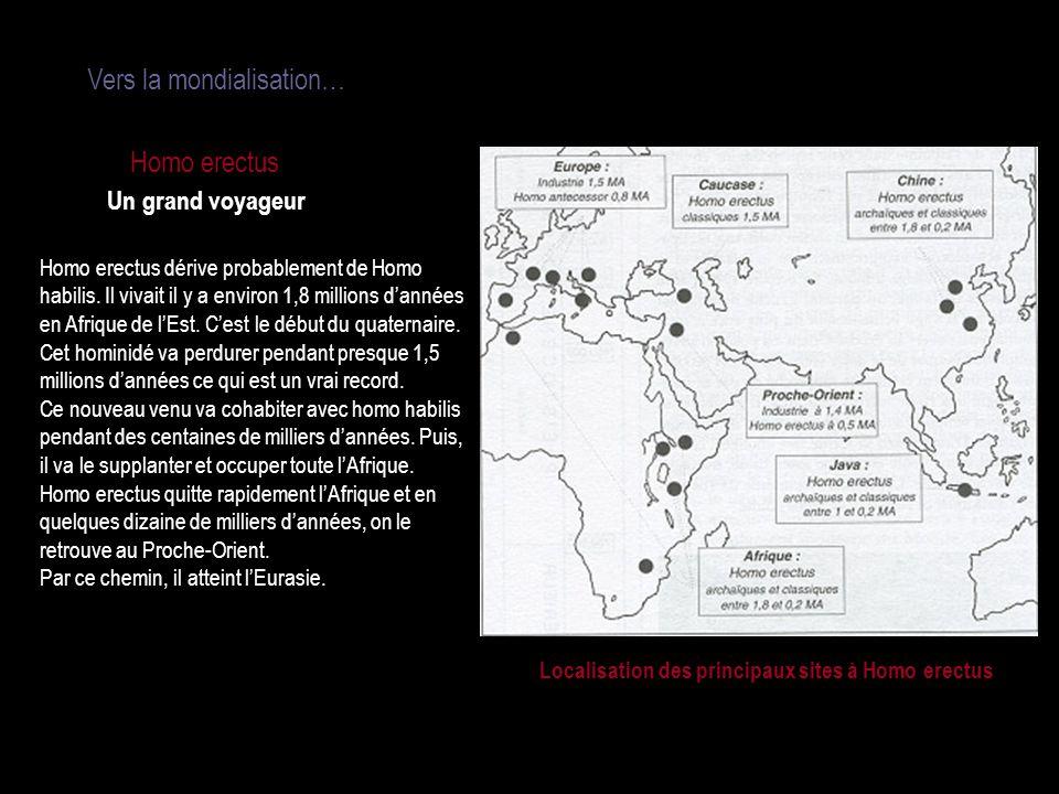Vers la mondialisation…