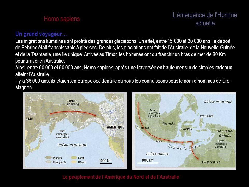 Le peuplement de l'Amérique du Nord et de l'Australie