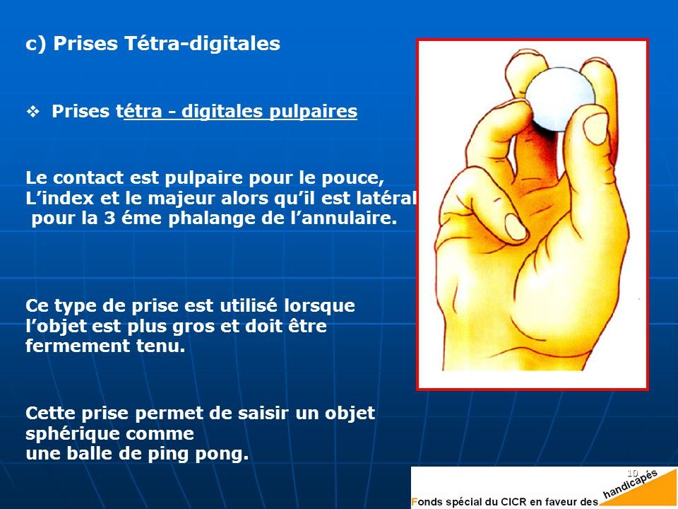 c) Prises Tétra-digitales