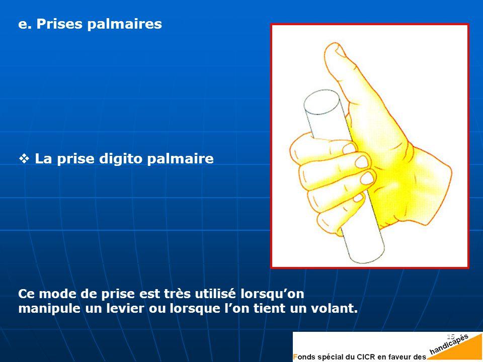 La prise digito palmaire