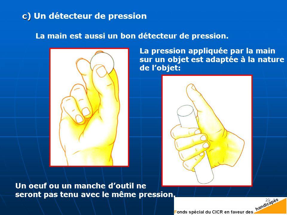 c) Un détecteur de pression