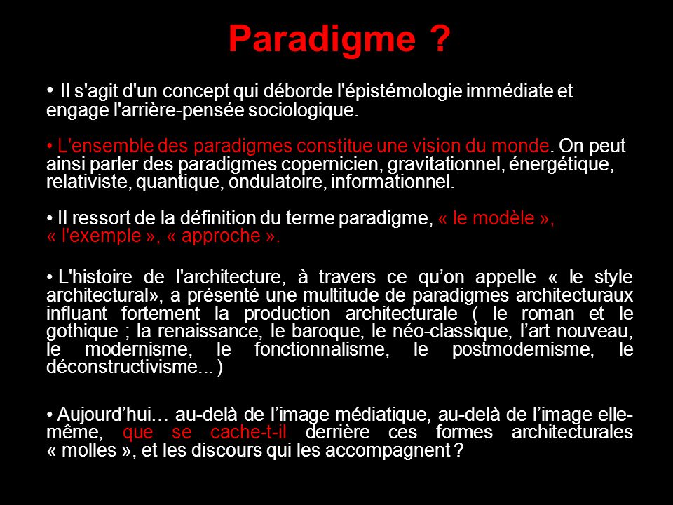 Paradigme informationnel ppt video online t l charger for Architecture classique definition