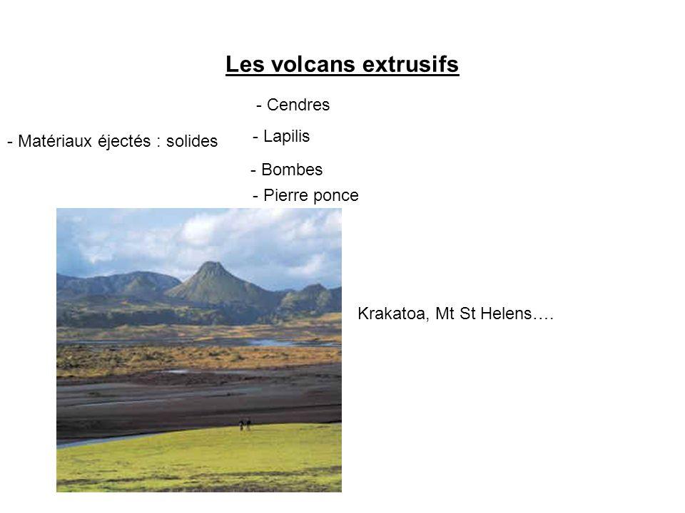 Les volcans extrusifs - Cendres - Lapilis