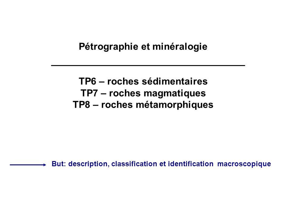 Pétrographie et minéralogie