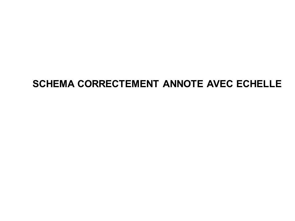 SCHEMA CORRECTEMENT ANNOTE AVEC ECHELLE