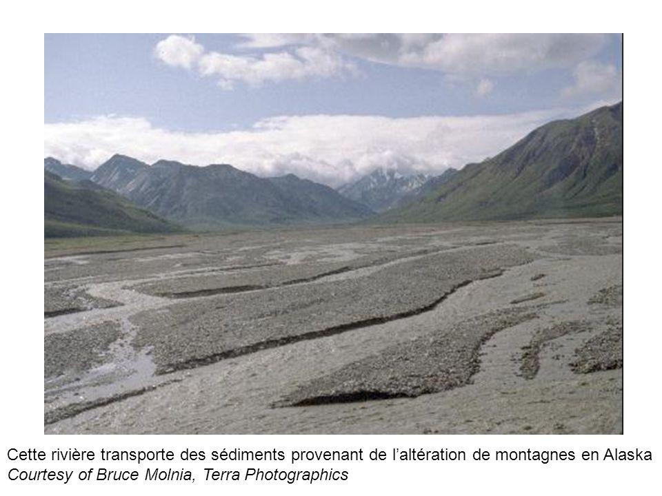 Cette rivière transporte des sédiments provenant de l'altération de montagnes en Alaska Courtesy of Bruce Molnia, Terra Photographics