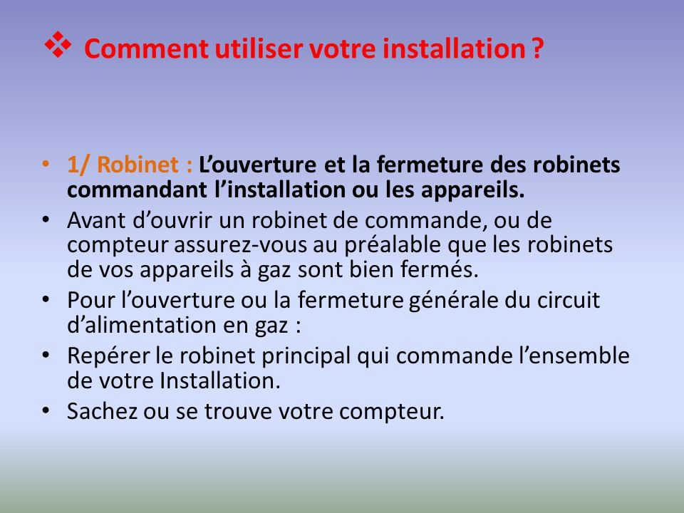 Direction de distribution de mascara ppt t l charger - Comment installer un robinet de jardin ...