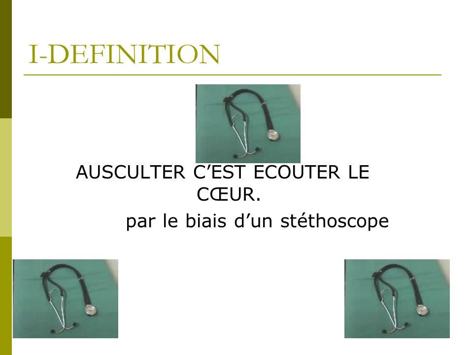 I-DEFINITION AUSCULTER C'EST ECOUTER LE CŒUR.