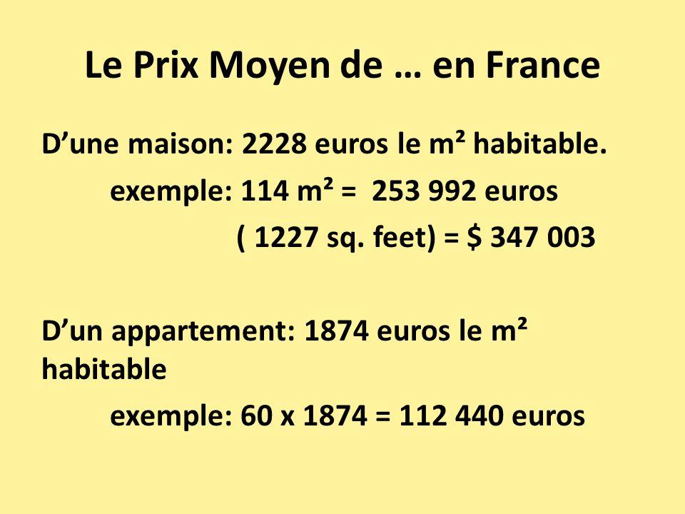 Prix moyen d une maison cu0027est la commune o les for Prix moyen maison