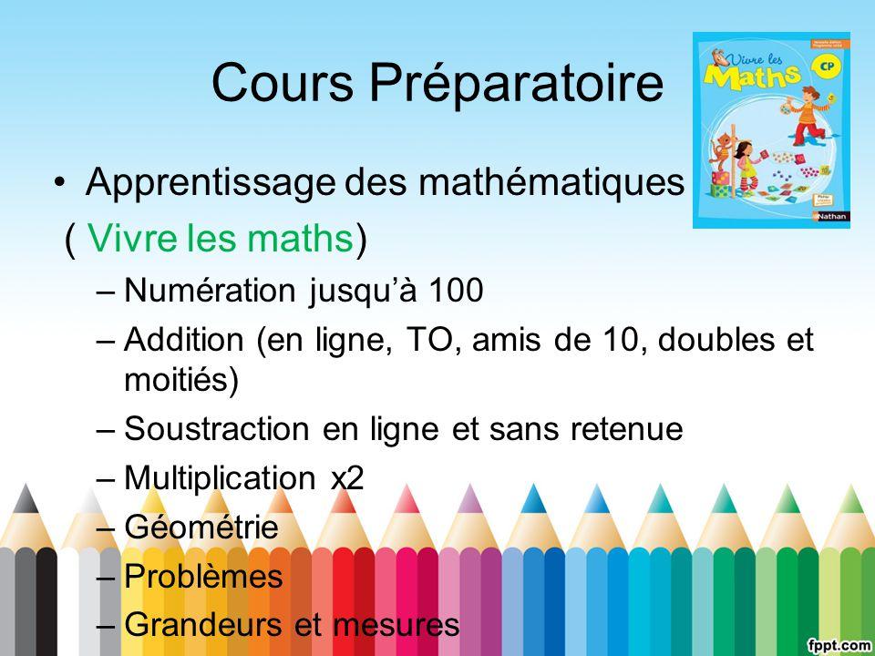 Cours Préparatoire Apprentissage des mathématiques ( Vivre les maths)