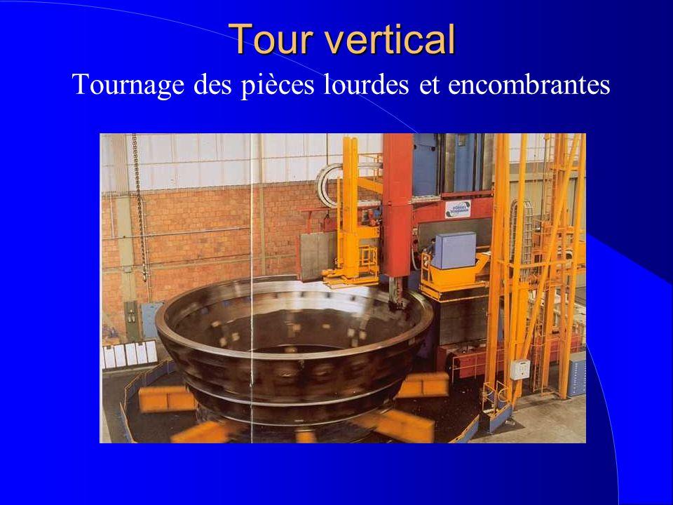 Tour vertical Tournage des pièces lourdes et encombrantes