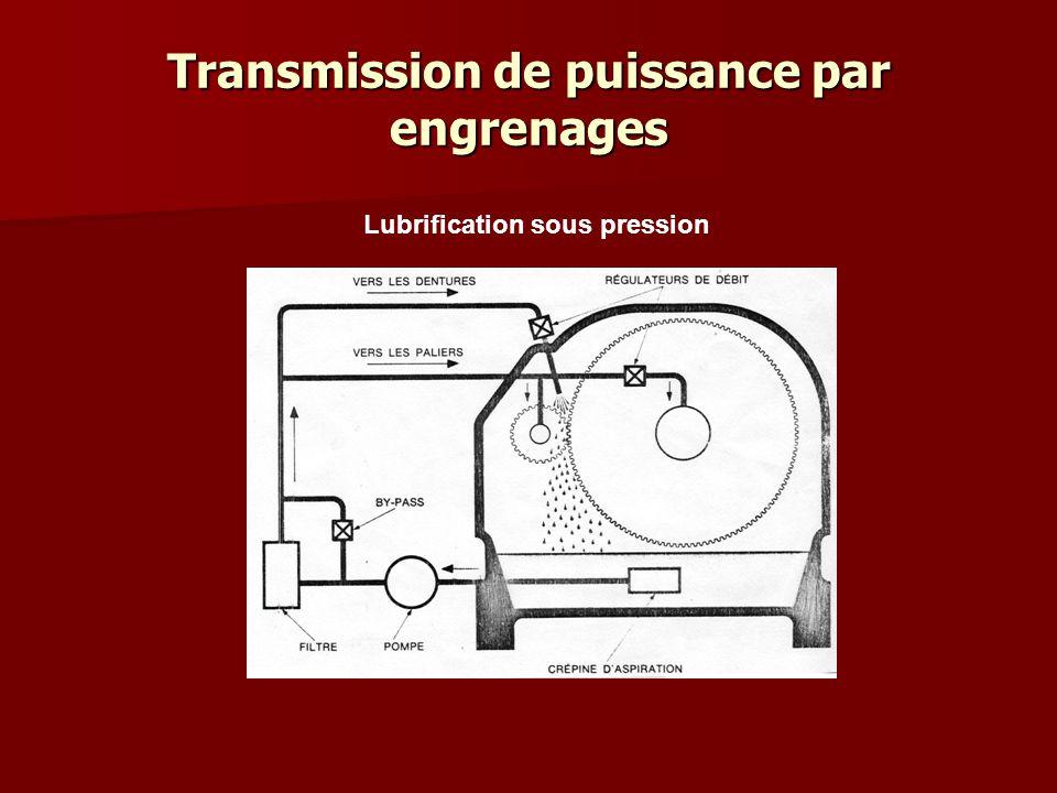 Transmission de puissance par engrenages