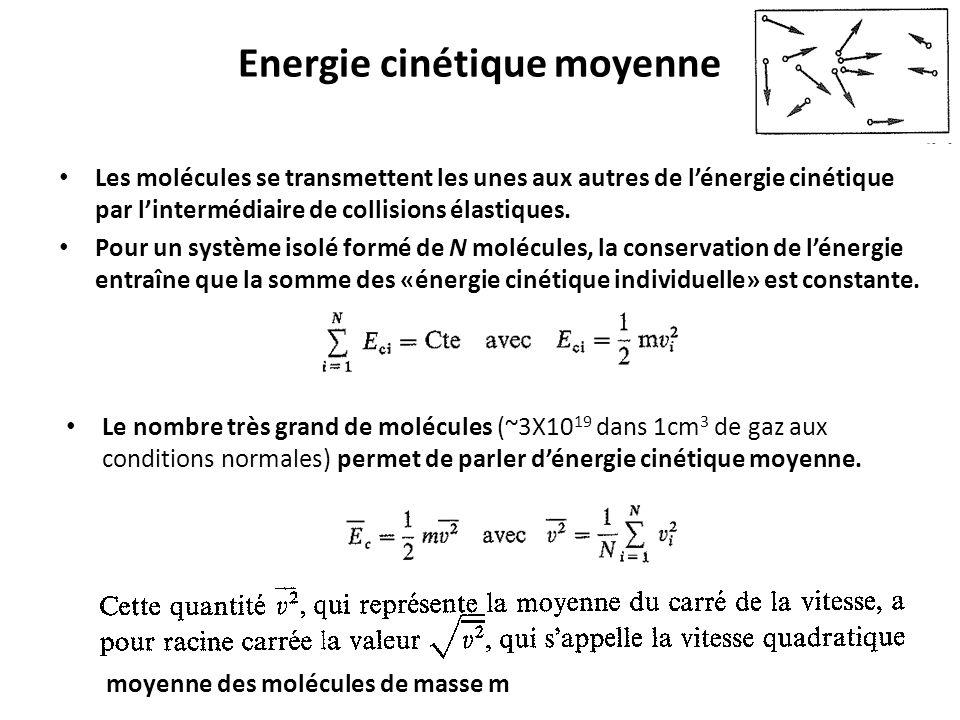 Energie cinétique moyenne