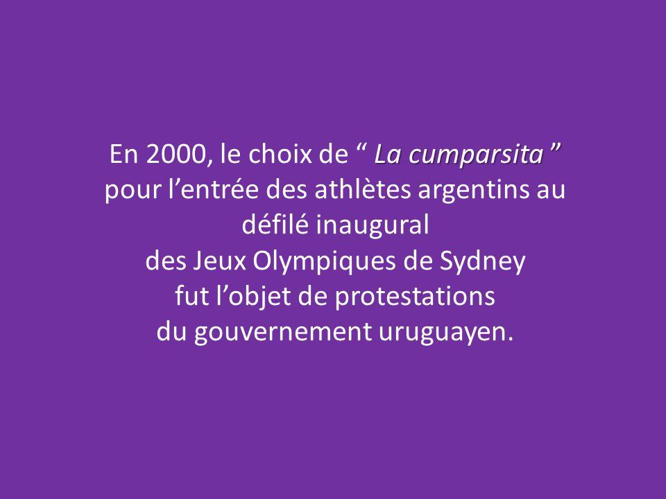 En 2000, le choix de La cumparsita