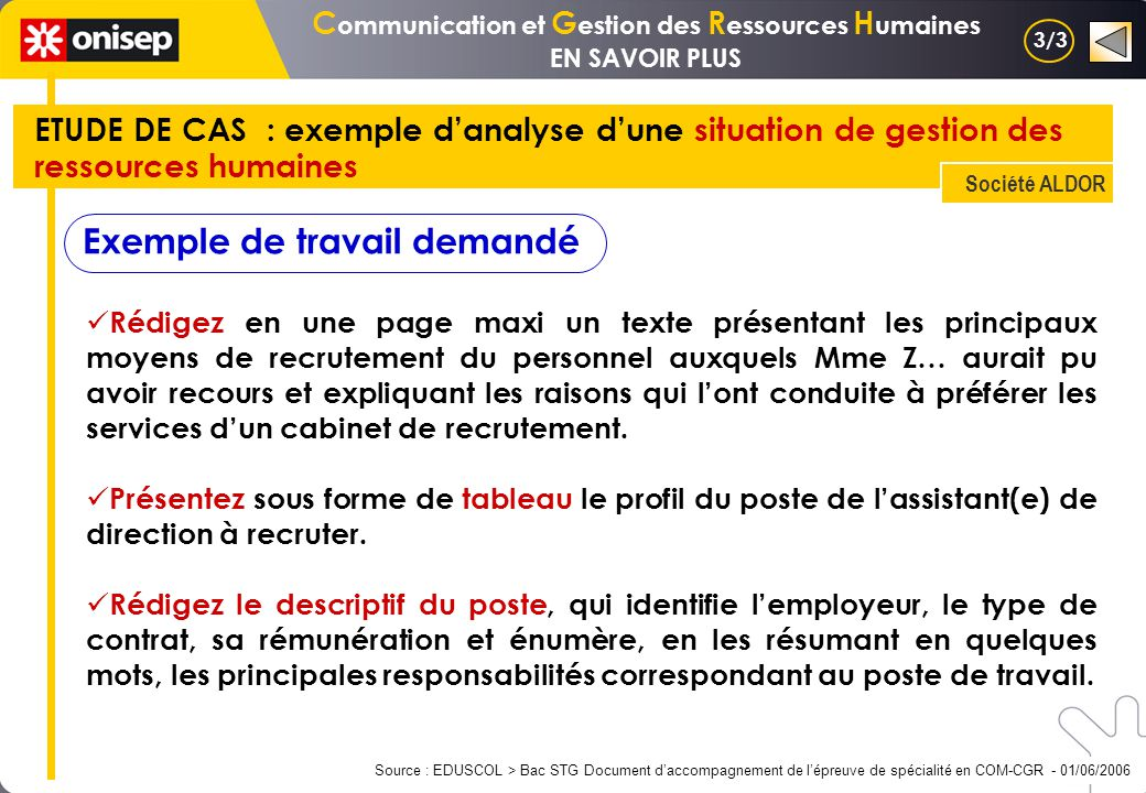 Version longue cgrh mercatique cfe gsi e de ppt - Cabinet de recrutement page personnel ...