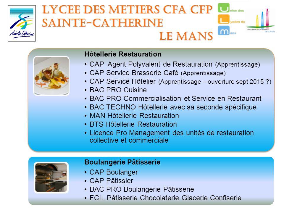 Les lyc es de l enseignement catholique de la sarthe vous for Employe restauration collective