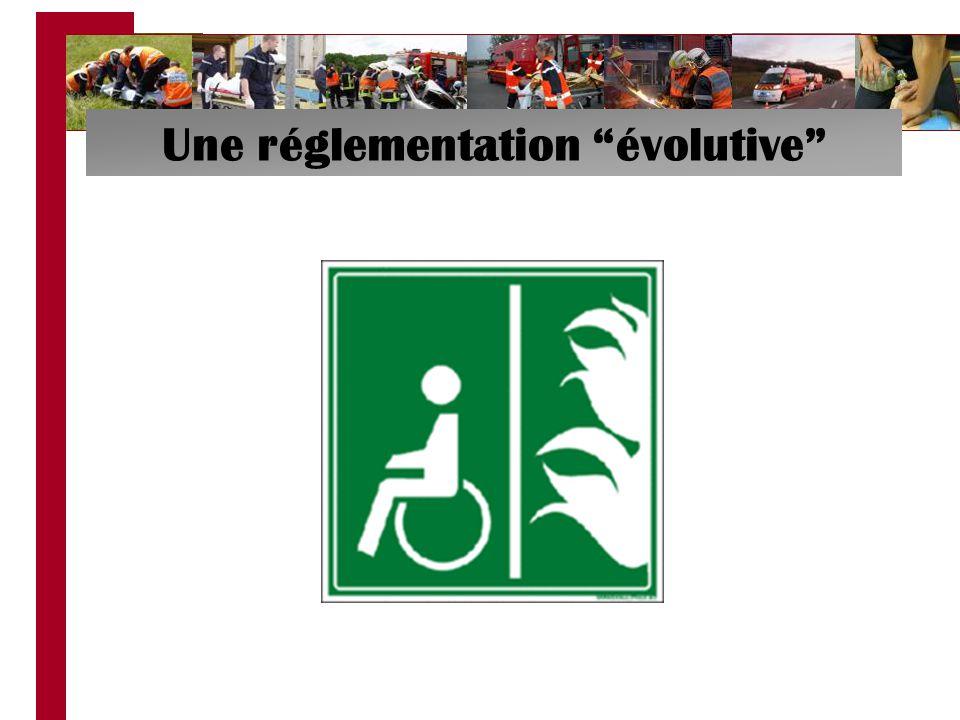 Une réglementation évolutive