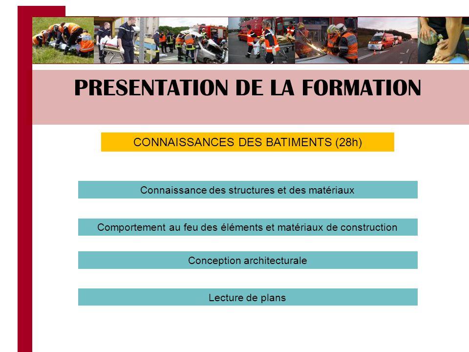 PRESENTATION DE LA FORMATION