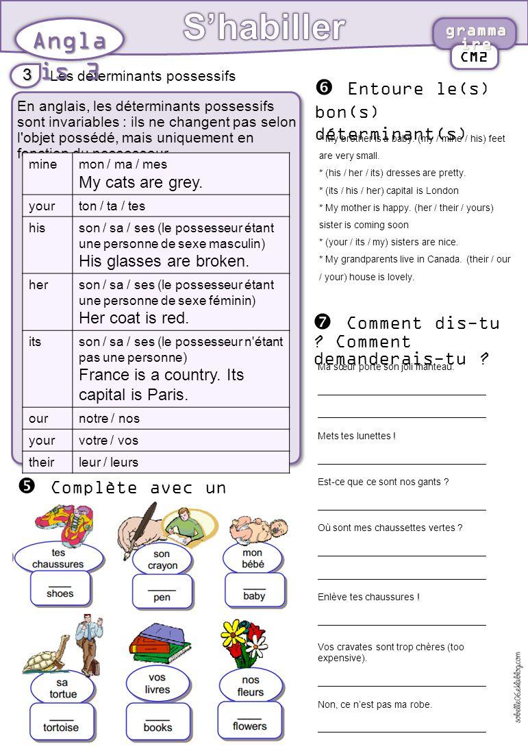 s u2019habiller anglais 3 ecris les mots sous les dessins