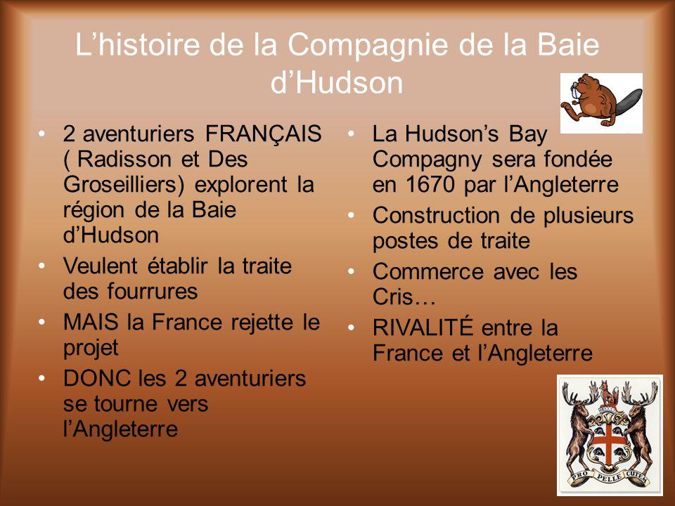 L'histoire de la Compagnie de la Baie d'Hudson