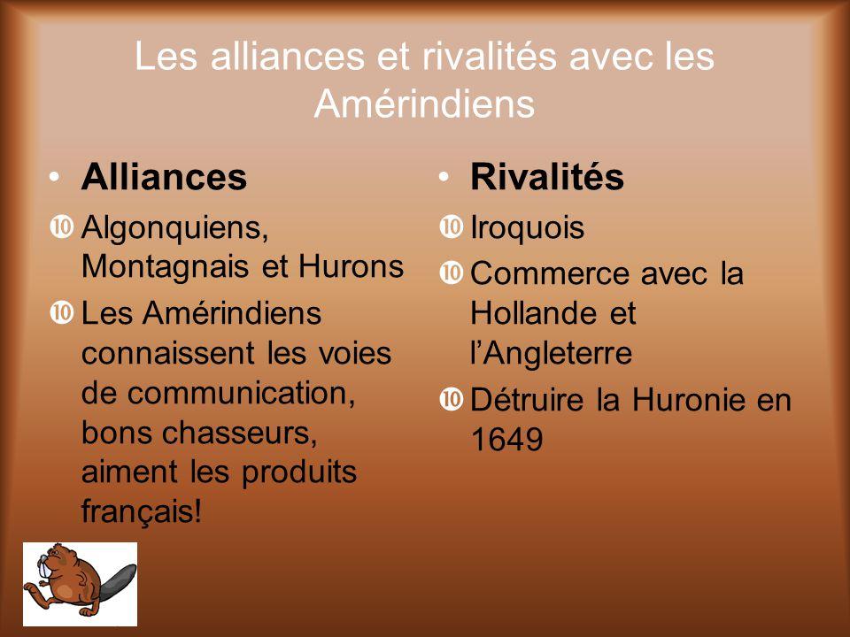 Les alliances et rivalités avec les Amérindiens