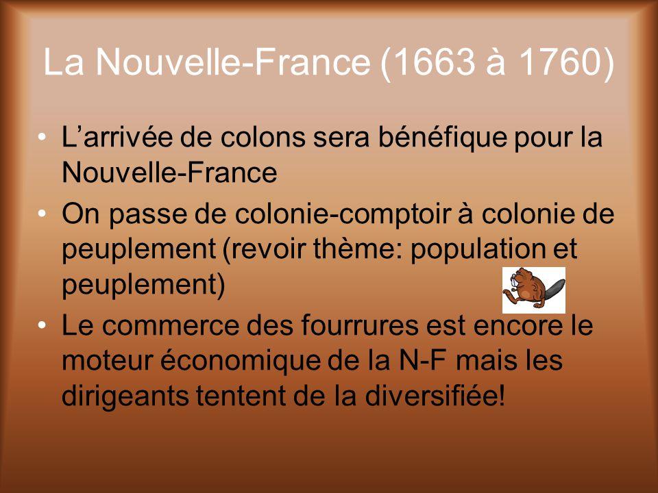 La Nouvelle-France (1663 à 1760)