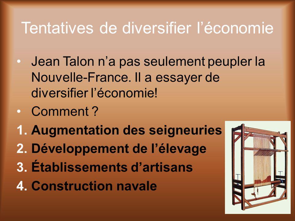 Tentatives de diversifier l'économie