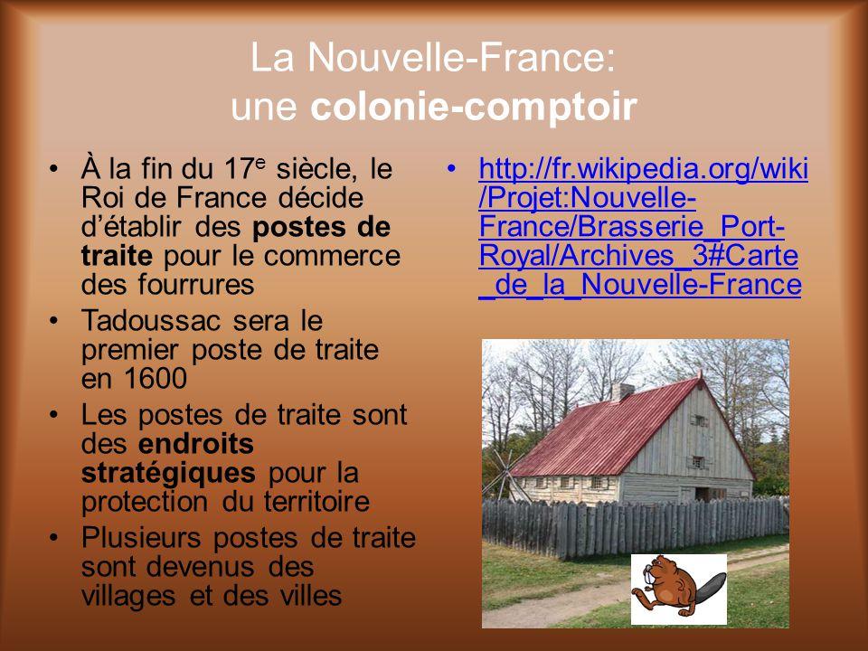 La Nouvelle-France: une colonie-comptoir