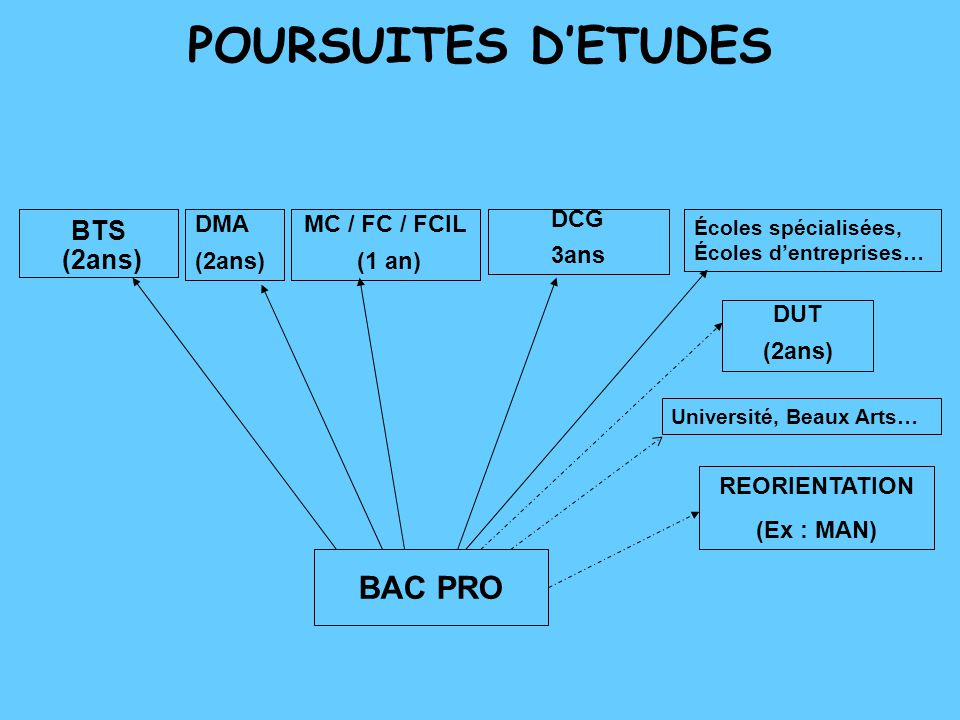apres un bac pro l u2019insertion professionnelle poursuite d u2019etudes