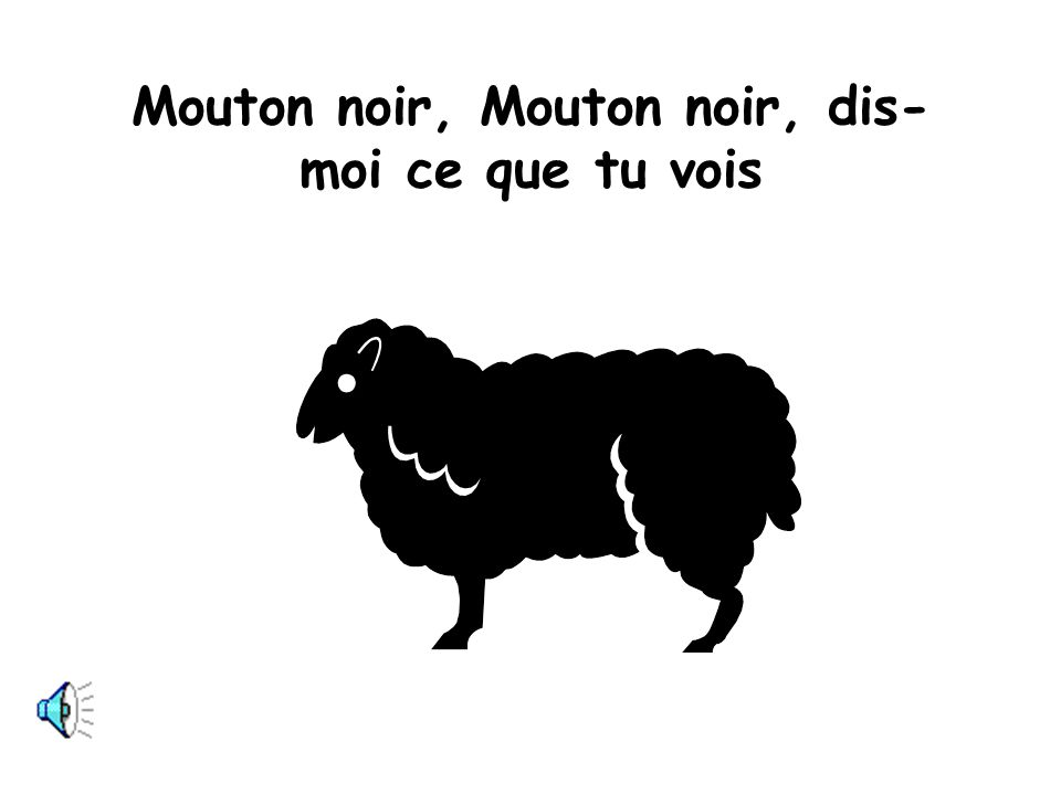 Mouton noir, Mouton noir, dis-moi ce que tu vois