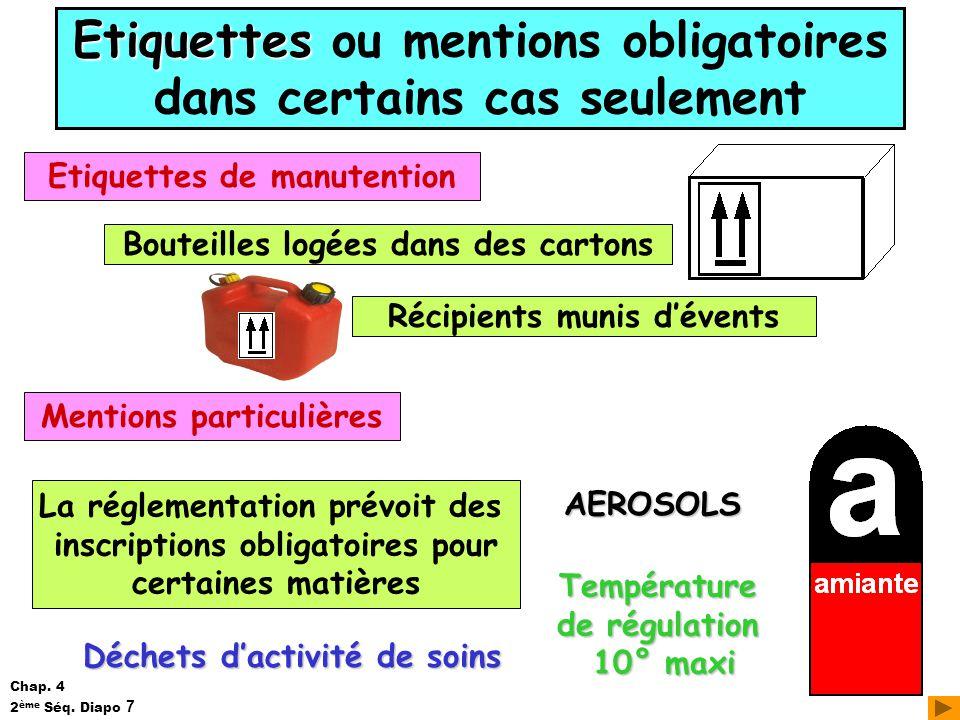 Préférence LES EMBALLAGES Chapitre 4 PLAN • L 'identification des emballages  JQ68