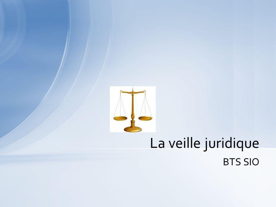 La veille juridique BTS SIO