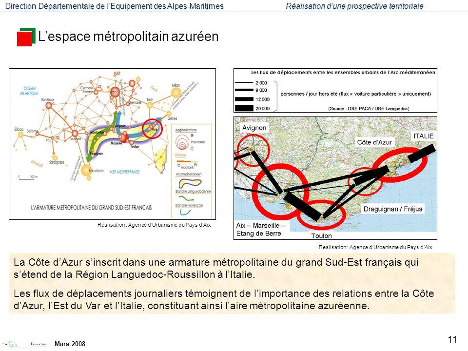 L'espace métropolitain azuréen