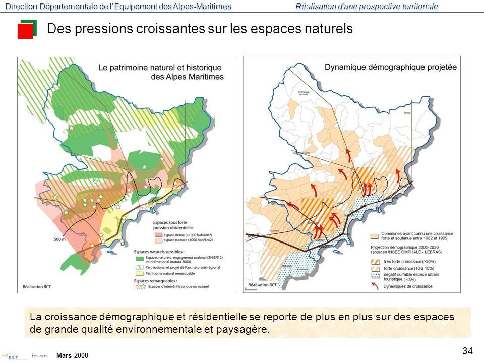Des pressions croissantes sur les espaces naturels