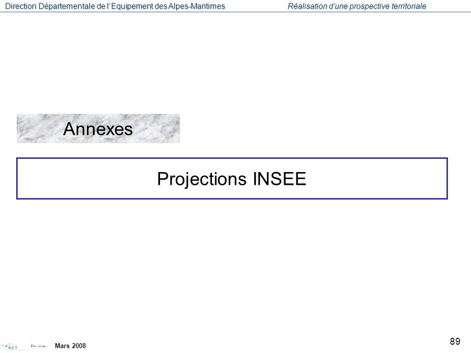Annexes Projections INSEE Mars 2008