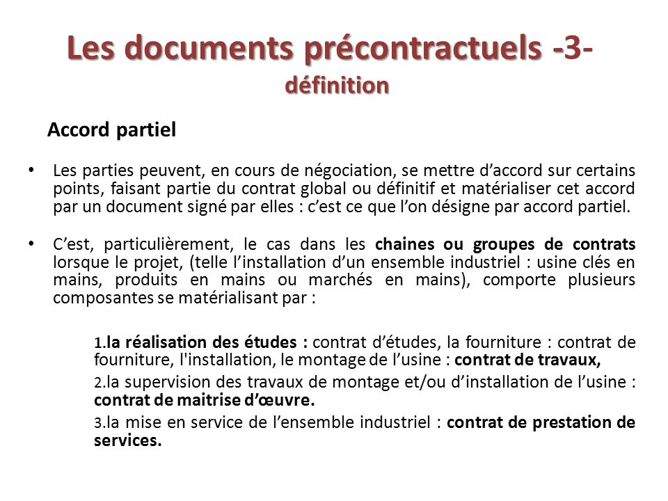 R daction des contrats ppt t l charger for Contrat de maitrise d oeuvre