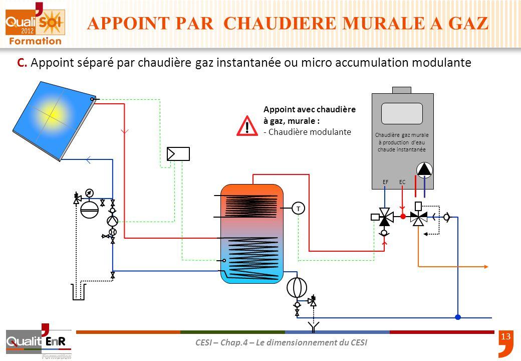Le dimensionnement du cesi ppt t l charger for Chaudiere murale gaz avec eau chaude sanitaire instantanee