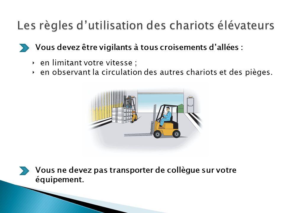 Les règles d'utilisation des chariots élévateurs