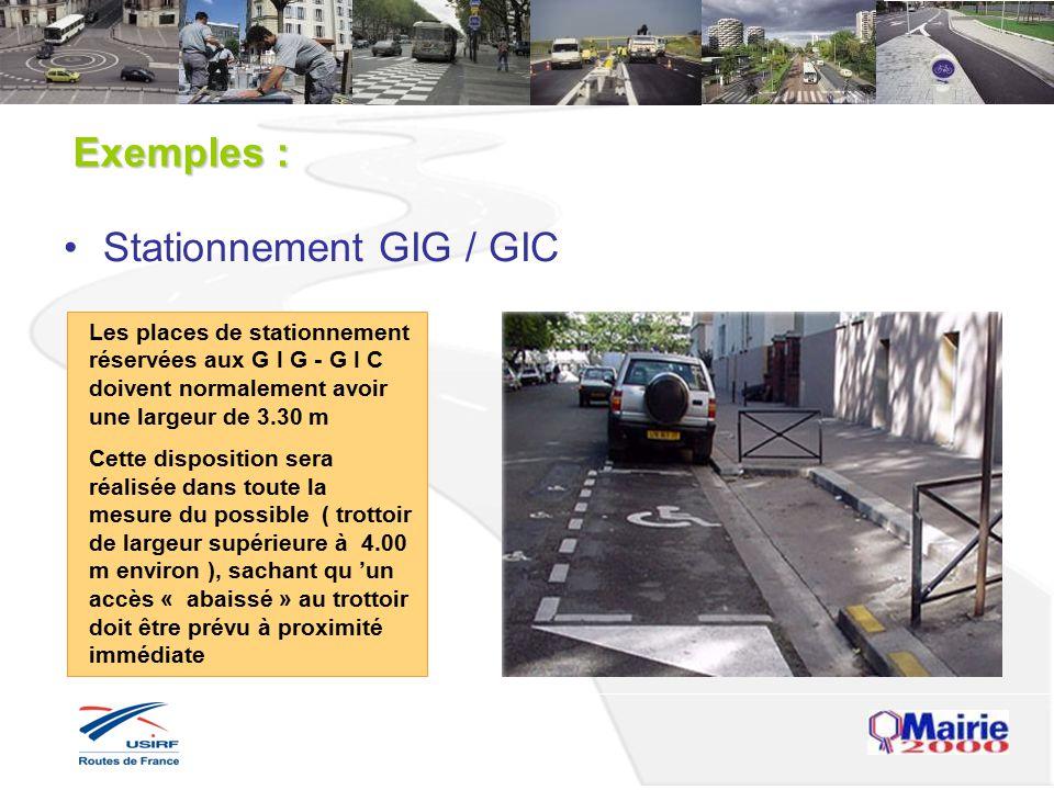 Stationnement GIG / GIC