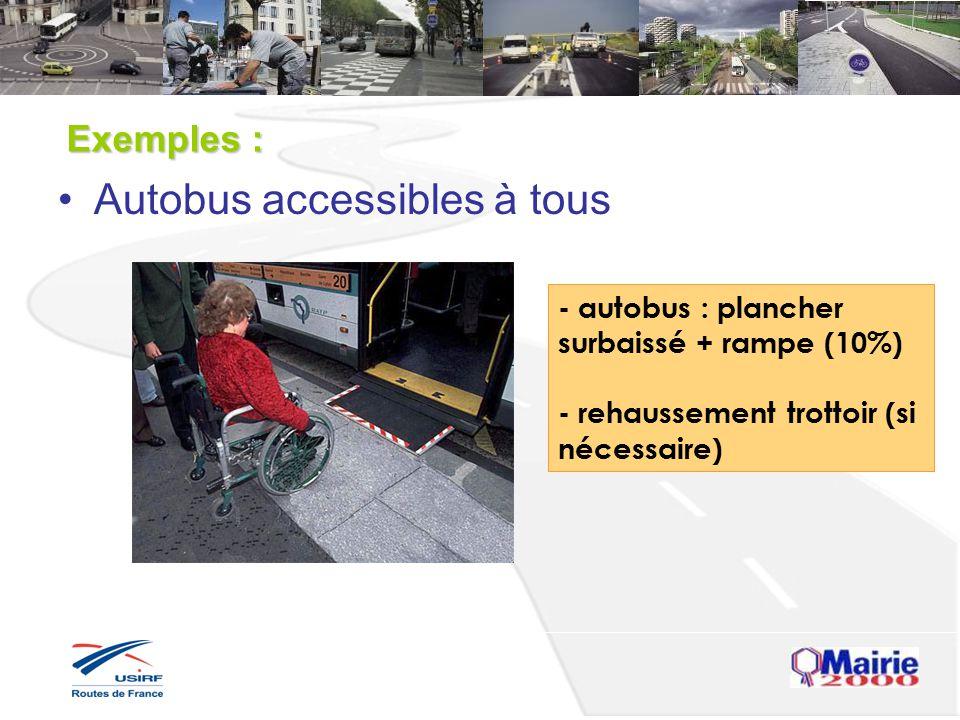 Autobus accessibles à tous