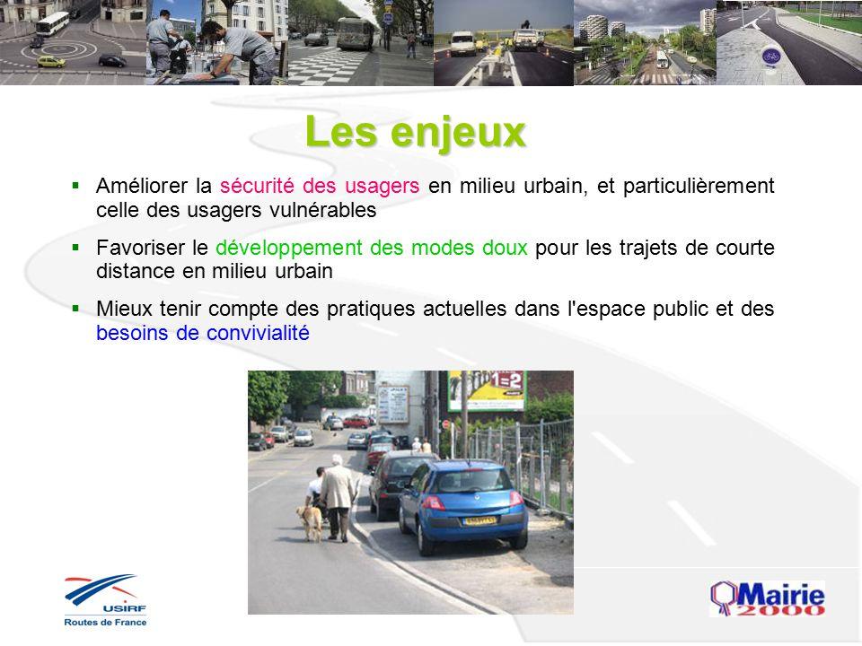 Les enjeux Améliorer la sécurité des usagers en milieu urbain, et particulièrement celle des usagers vulnérables.
