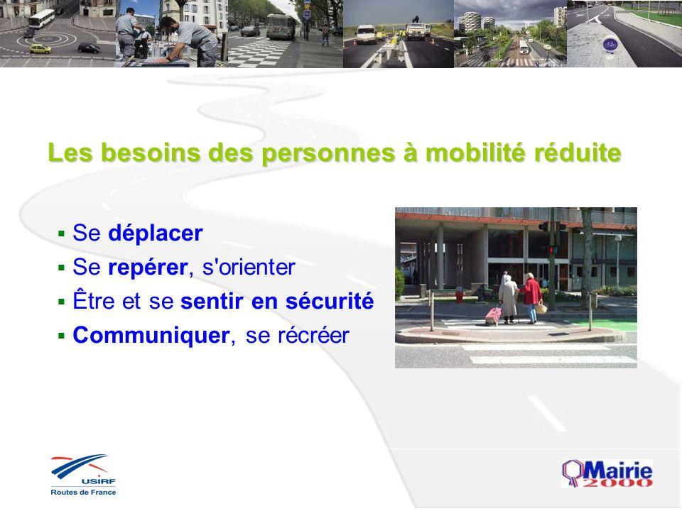 Les besoins des personnes à mobilité réduite