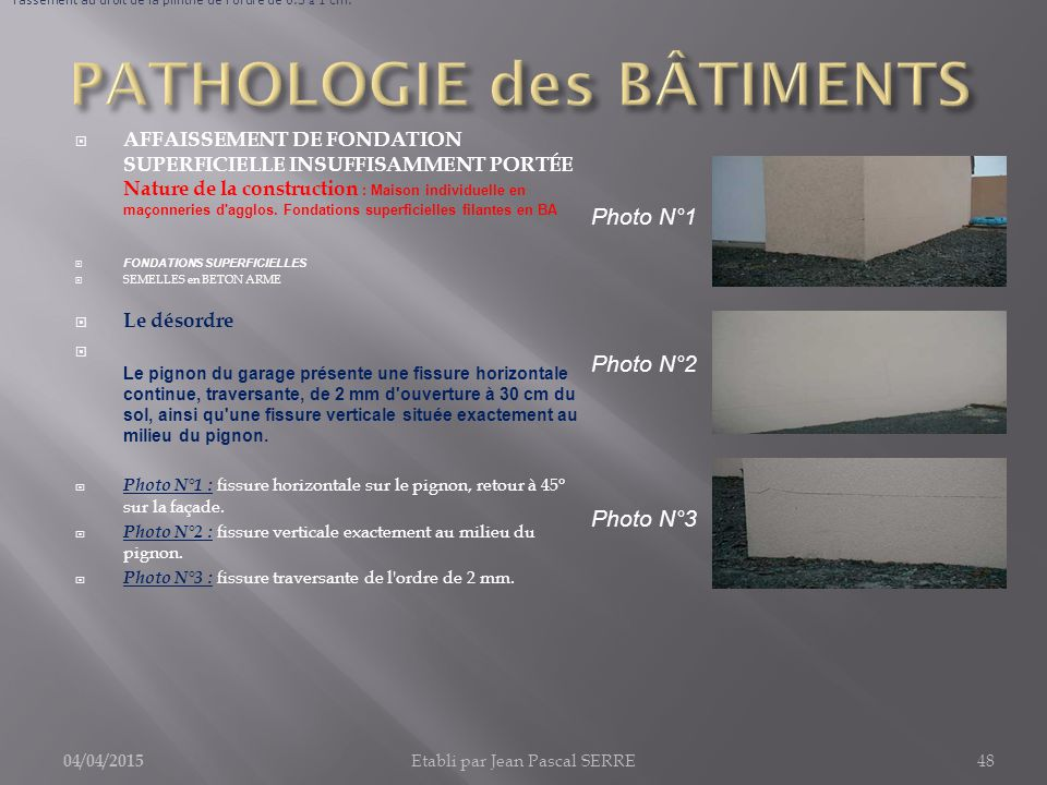 pathologie des b timents 1 fondations infrastructures ppt t l charger. Black Bedroom Furniture Sets. Home Design Ideas