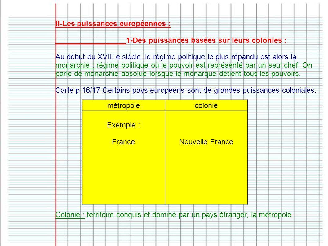 II-Les puissances européennes :