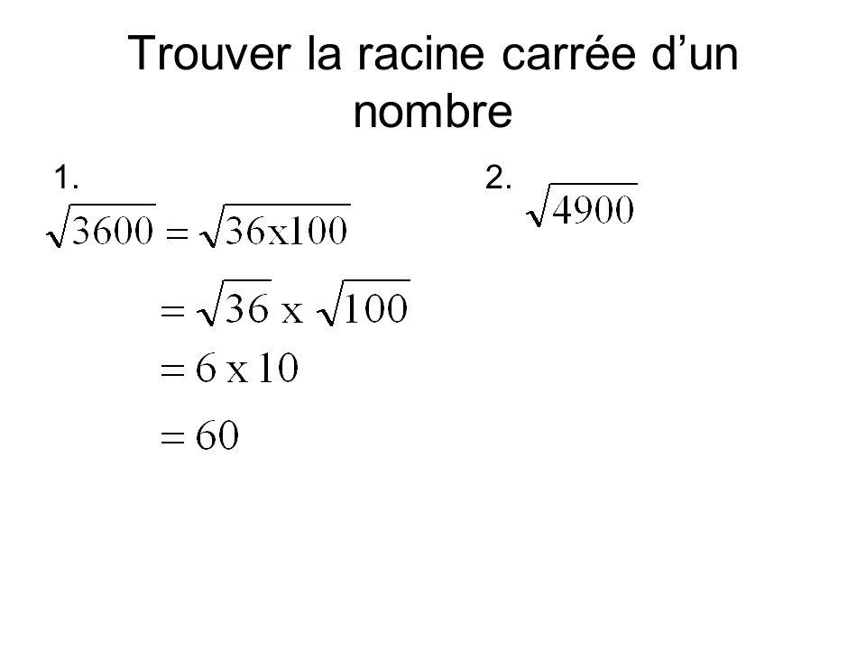 Trouver la racine carrée d'un nombre