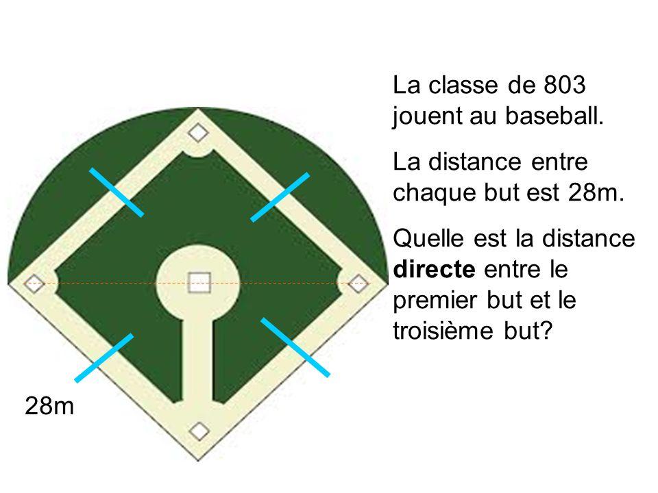 La classe de 803 jouent au baseball.