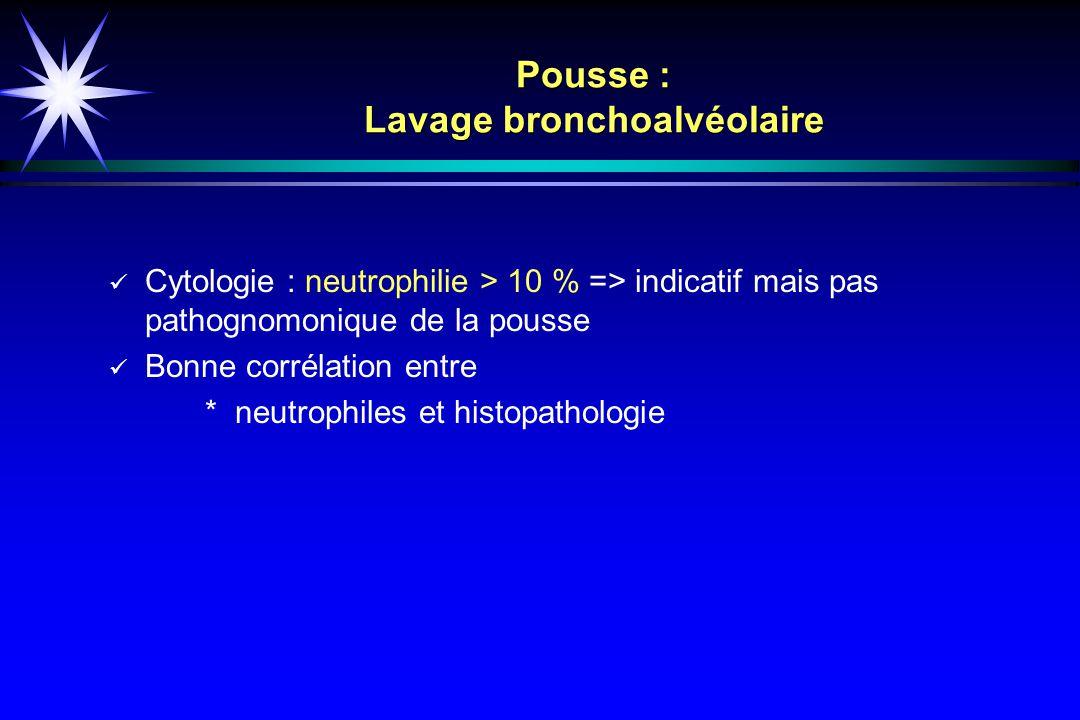 Pousse : Lavage bronchoalvéolaire