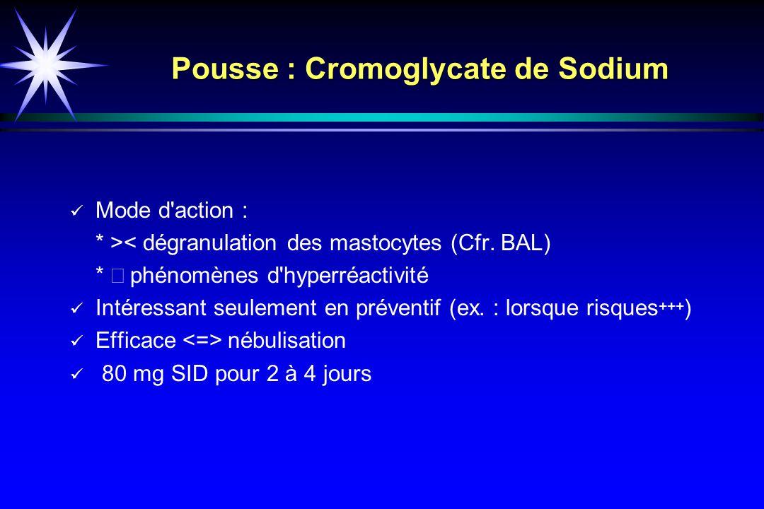 Pousse : Cromoglycate de Sodium