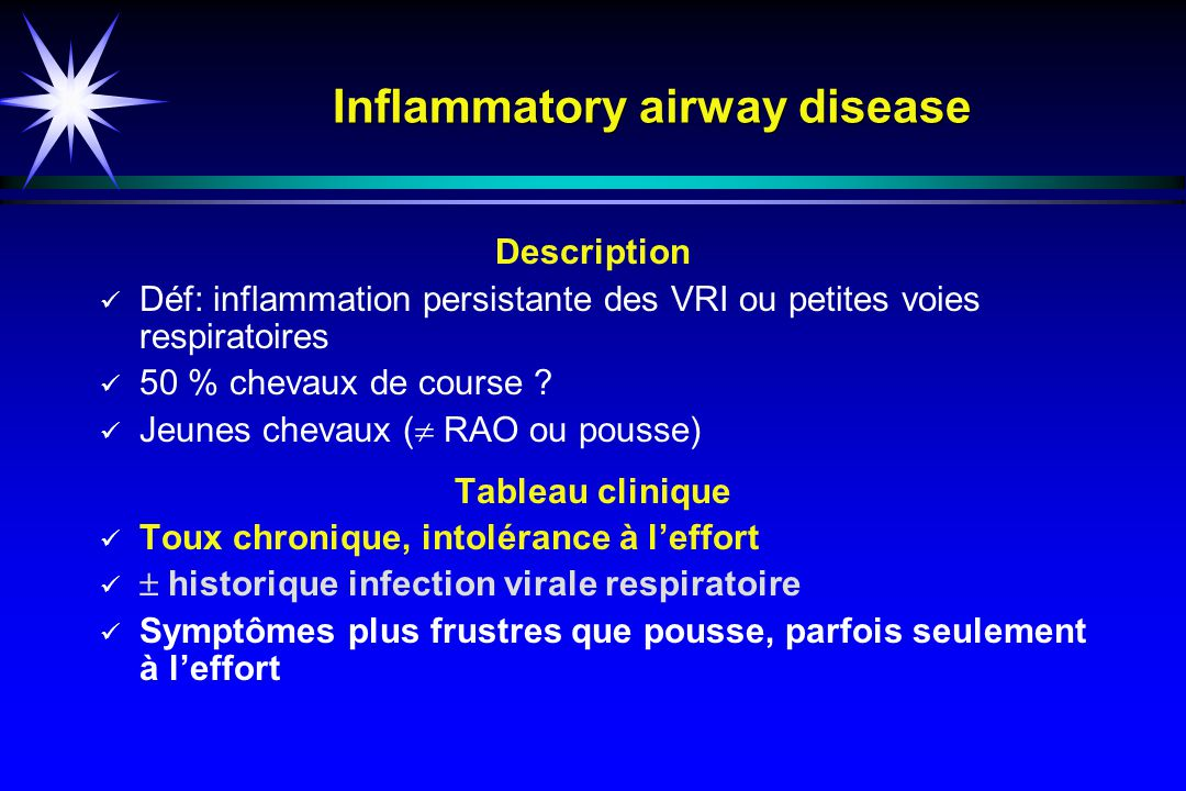 Inflammatory airway disease